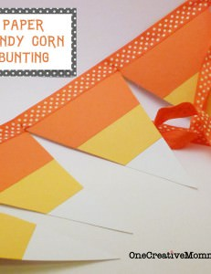 Candy Corn Pennant Tutorial with Free Pattern