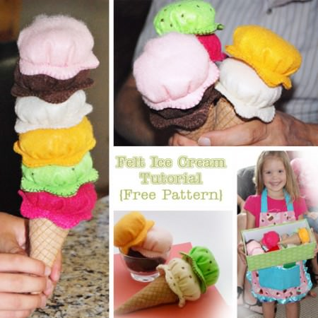 Felt Ice Cream Tutorial