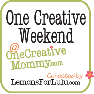 One Creative Weekend on One Creative Mommy.com