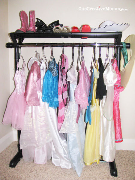 DIY Dress Up Storage Ideas for Kids (After)
