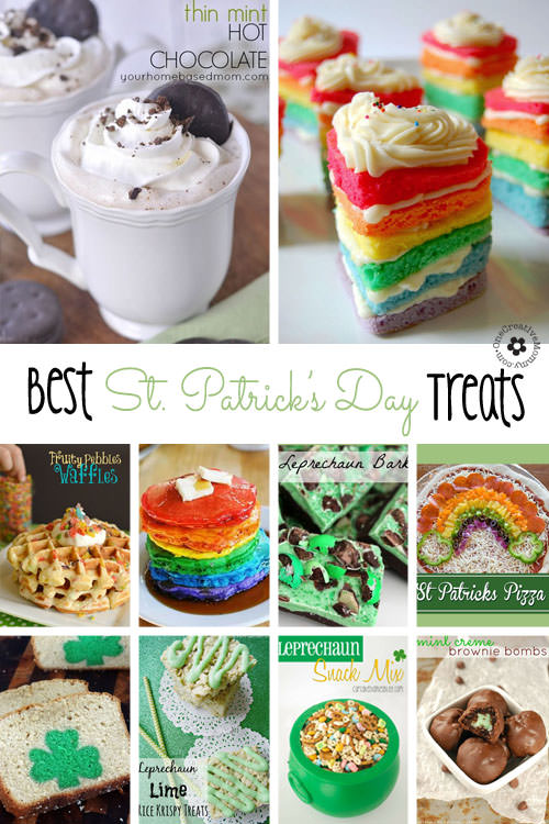 Check out 10 Awesome St. Patrick's Day Treats from some of my favorite bloggers!  {Roundup on OneCreativeMommy.com}