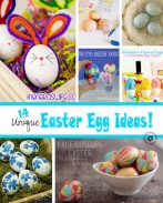 Ready to try something new this Easter? Check out these 14 Unique Easter Egg Ideas from some of my favorite bloggers! {OneCreativeMommy.com} Decorating will never be the same!
