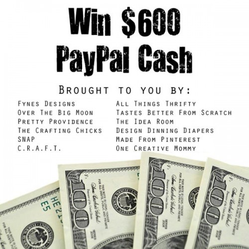 Who wants to win $600 PayPal Cash! Stop by and enter! {OneCreativeMommy.com}
